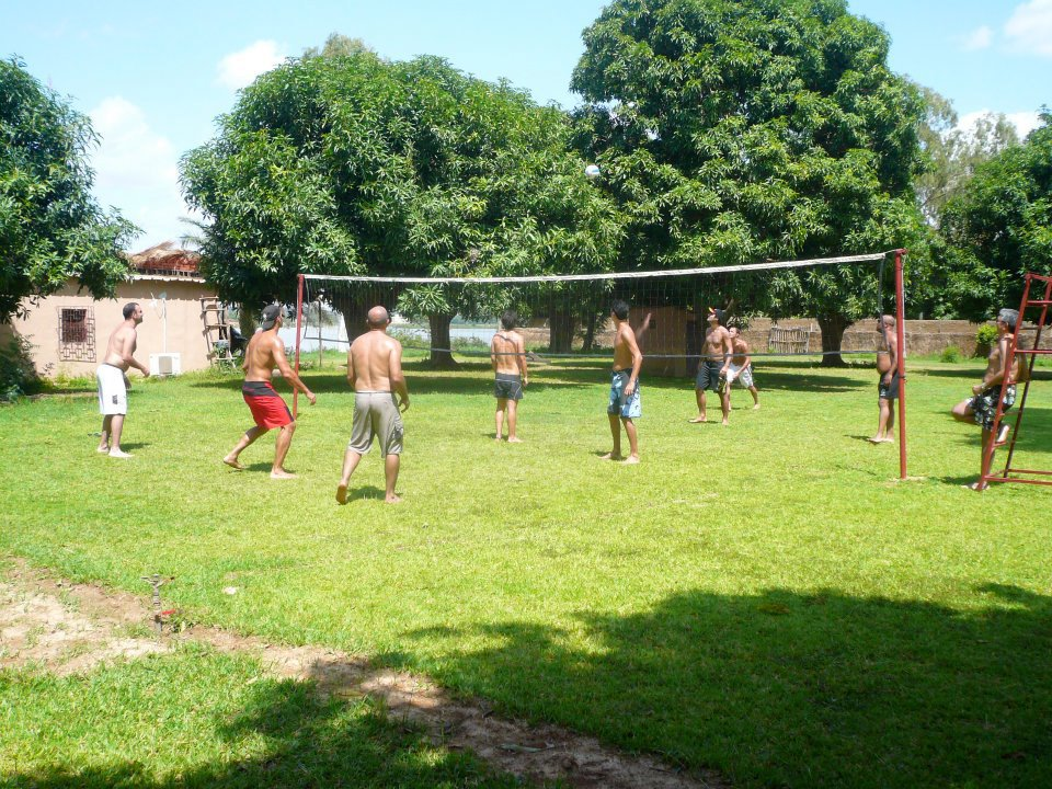 Game of volley ball at the BadaLodge in Bamakoko